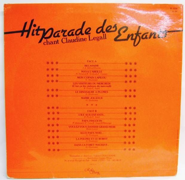 Hit Parade des Enfants - Record LP - Rela Song 1982