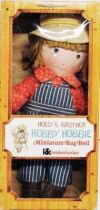 Holly Hobbie - Knickerbocker - Robby Hobbie, Holly Hobbie\'s brother 8\'\' Stuffed doll (Mint in Box)