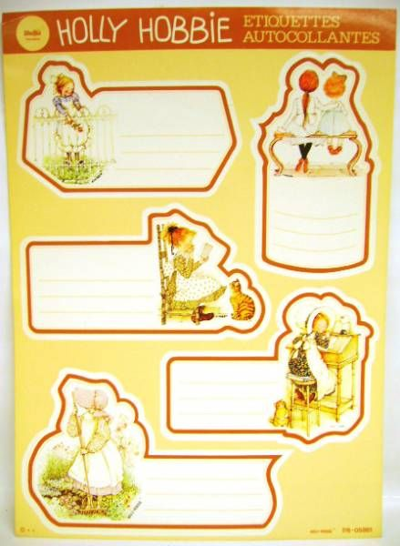 Holly Hobbie - School self-stick labels Libellia - 1 x self-stick labels set (B)