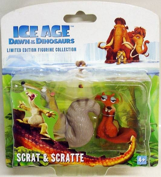 Ice Age 3 : Dawn of the dinosaurs - Collector Figures - Scrat & Scratte