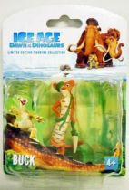 Ice Age 3 : Dawn of the dinosaurs - Set of 4 Collector Figures - Sid, Diego, Scrat & Bud