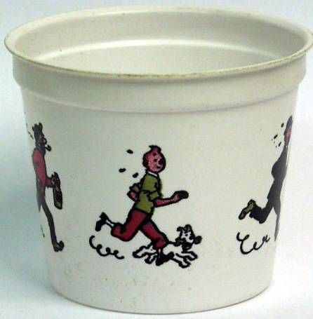 Ice cream plastique cup Tintin