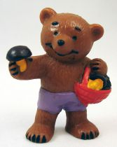 Ida Bohatta - Figurine pvc Bully 1983 - Ourson avec panier de champignons