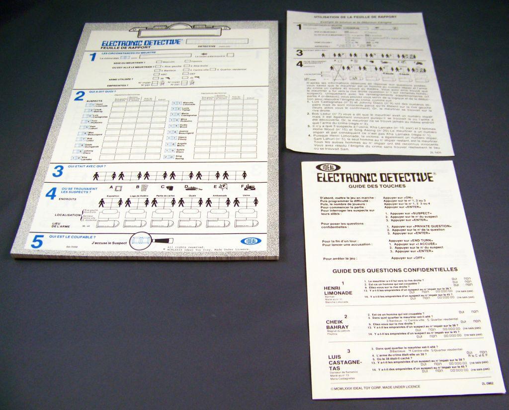 Ideal - Electronic Detective (Inspecteur Puzzle TF1) occasion en boite 06