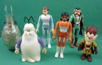 Il était une fois l\'espace - Popy - Complete set of 6 Plastic Action-Figures (loose)