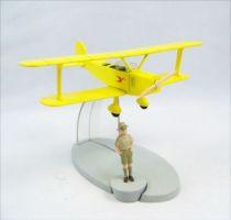 En Avion Tintin - Editions Hachette - 006 Le Biplan Jaune de Tintin au Congo 01