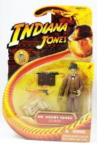Indiana Jones - Hasbro - Last Crusade - Indiana Jones (with sub-machine gun)Dr. Henry Jones