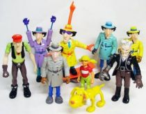 Inspector Gadget - Galoob - Set  of  9 Inspector Gadget loose figures