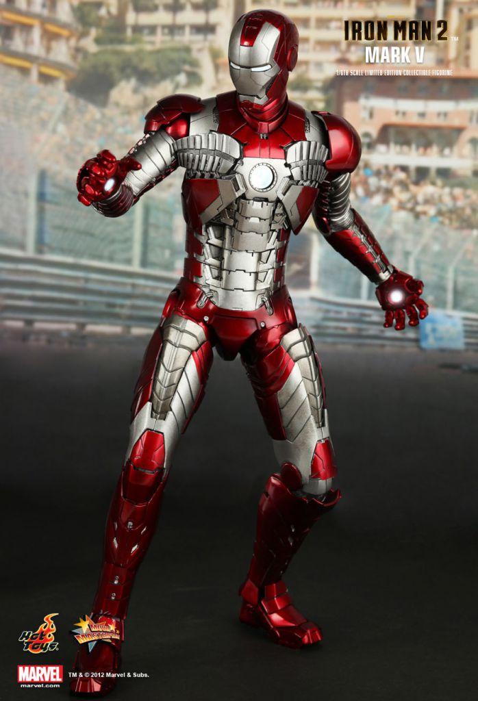 Iron Man 2 Iron Man Mark V 12 Quot Figure Hot Toys Mms 145