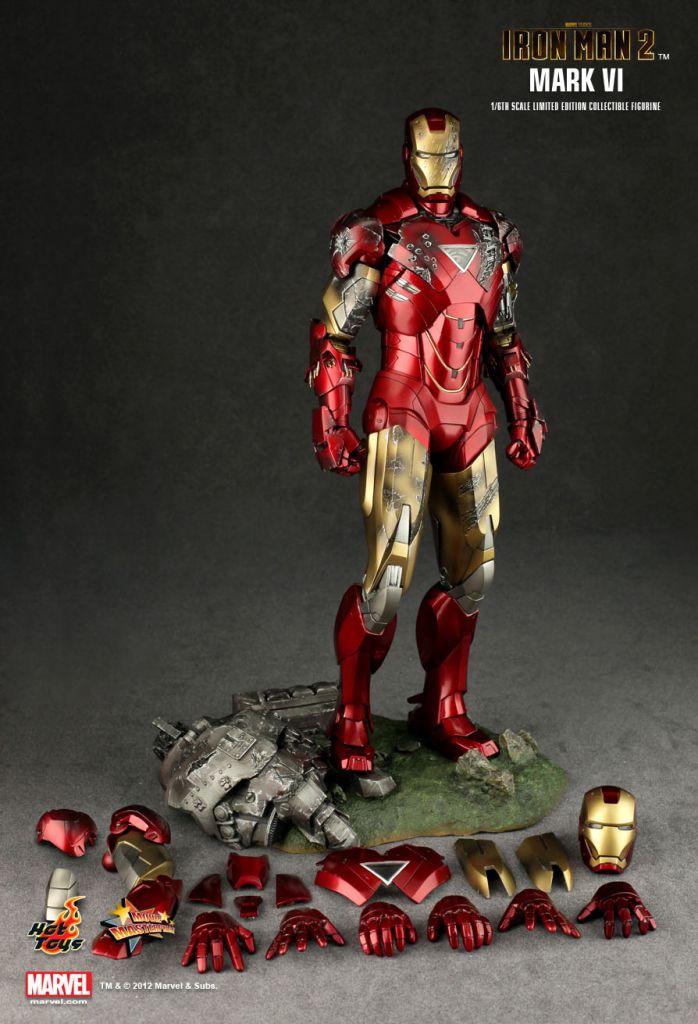 Iron Man 2 Iron Man Mark Vi 12 Quot Figure Hot Toys Mms 132