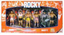Jakks Pacific - ROCKY \'\'Celebrating 30 years of Rocky Balboa\'\' - Set of 6 figures