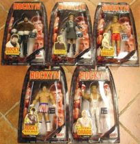 Jakks Pacific - ROCKY IV - Set of 5 figures (mint on card)