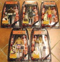 Jakks Pacific - ROCKY IV - Set of 5 figures (mint on card)