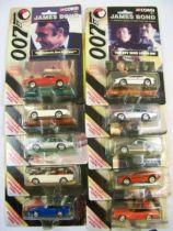 James Bond - Corgi (American Series) - Complete set of 10 vehicles on card
