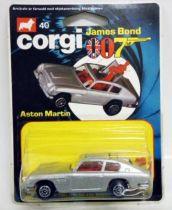 James Bond - Corgi Junior Vintage - Goldfinger - Aston Martin DB5 (Ref.40) Mint on Card