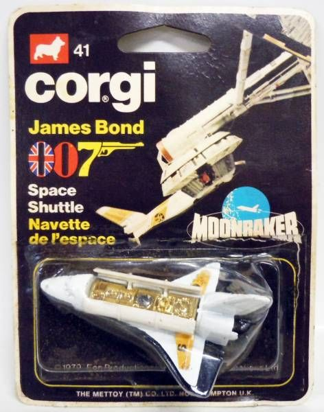James Bond - Corgi Junior Vintage - Moonraker - Space Shuttle (Ref.41) Mint on Card