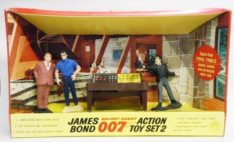 James Bond (Vintage) - Gilbert Figures - Goldfinger Action Toy Set 2(mint in box)
