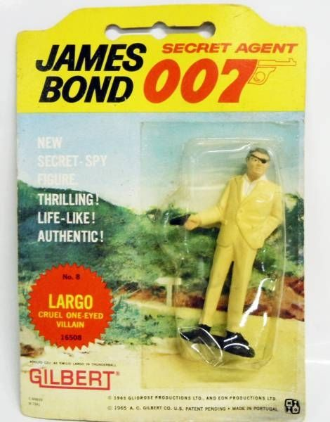 James Bond (Vintage) - Gilbert Figures - Largo (mint on card)
