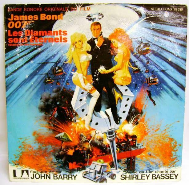 James Bond Diamonds are Forever (Original Soundtrack) - Record LP - United Artists Records 1971
