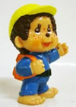 Japanese pvc figure Monchichi school boy
