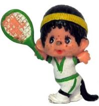 Japanese pvc figure Monchichi tennisman