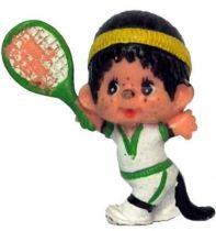 Japanese pvc figure Monchichi tennisman