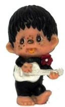 Japanese pvc figure Monchichi with guitar