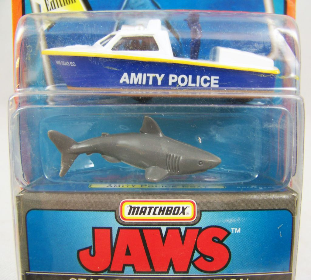 Les Dents de la Mer - Matchbox Star Car Collection - Bateau de la Police d\'Amity & Requin 03