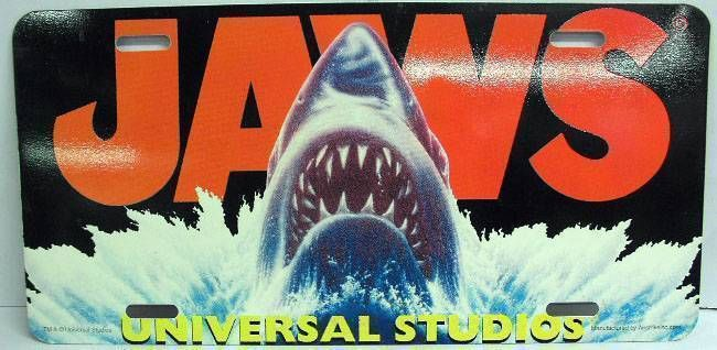 Jaws - Universal Studios - License plate