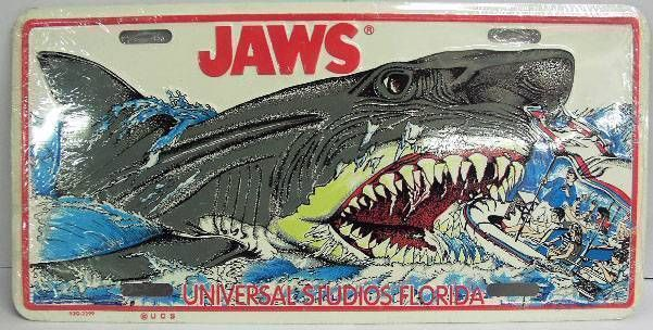 Jaws - Universal Studios Florida - License plate