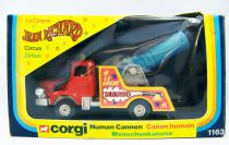 Jean Richard (Pinder) Circus - Corgi 1979 - Human Cannon (Ref.1163) mint in box