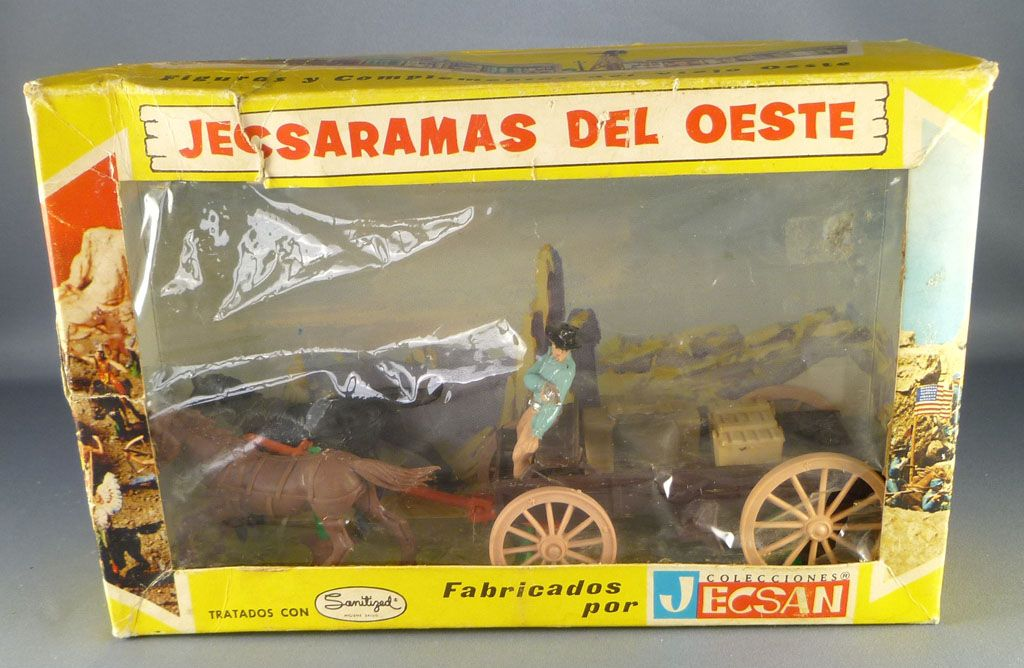 jecsan___far_west___serie_jecsaramas_del_oeste___cow_boys_chariot_plat_chargement_caisses___sac_neuf_boite_ref_127_1