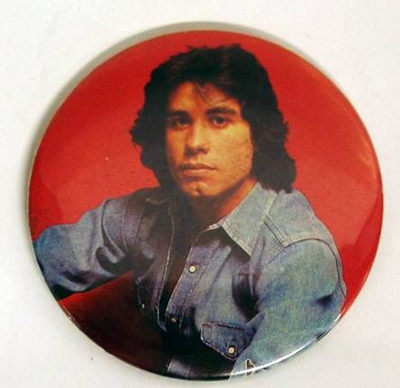 John Travolta - Vintage Button - 1977