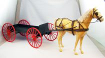 Johnny West - Marx Toys - Buckboard & Thunderbolt (Loose)
