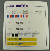 Jouef 1010 Ho Sncf Stikers Sheet for City Hall & Post Office Mint condition