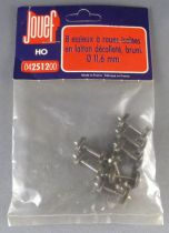Jouef 2512 Ho 8 Brass Isolated axles with wheels Diametre 11,6mm