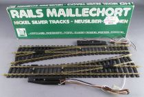 Jouef 4187 Ho 2 Large Electric Points turn left 14° R 671 Nickel Silver Tracks Mint in box