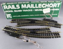 Jouef 4191 Ho 2 Large Electric Curved Points turn left Nickel Silver Tracks Mint in box
