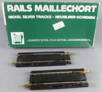 Jouef 4786 Ho 2 Straight Extensible Nickel Silver Tracks with Plug 86 to 117 mm Mint in Box