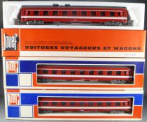 Jouef 5270 Ho Sncf 3 Uic Coach A9 1st Class Capitole Livery in box
