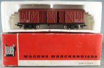 Jouef 6530 Ho Sncf Wagon Couvert Bois 4 Portes TP à Bogies Boite Rouge