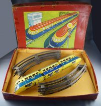 Joustra 803 0 Gauge Boxed Tin Mechanical Tornando 3 Parts Trains