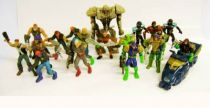Judge Dredd - Mega Heroes by Mattel - Set of  18 plastic action figures