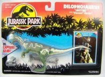 "Jurassic Park - Kenner - Dilophosaurus \""with Capture Gear\"" (mint on card)"