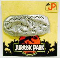 Jurassic Park - Kid\'s Jewels - Bobby Pin \'\'Triceratops vs. T-Rex\'\' - Diplodocus Design for Fantabijoux 1992