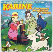 Karine, l\'aventure du nouveau monde - Disque 45Tours - Bande Originale Série Tv - Disques Ades 1987
