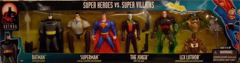 Kenner - Batman The Animated Series - 4 figures gift pack \'\' Super Heroes vs. Super Villains\'\'