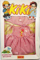 Kiki - Grand Taille 40cm - Tenue pour fille robe rayée rouge et blanche - Ajena
