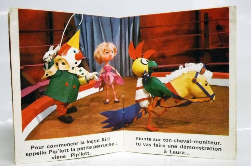 Kiri the Clown - Mini-Comics Gautier-Languereau Editions ORTF 1970 The riding lesson of Kiri the Clown