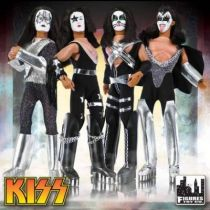 KISS - Set de 4 figurines articulées 20cm \'\'Mego-style\'\' - Gene, Peter, Ace, Paul